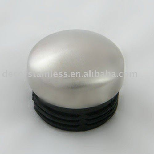 Arched plastic end cap stainless steel handrail