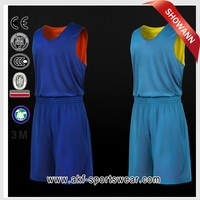 top style basketball jersey/basketball jersey color blue/cheap reversible basketball uniform