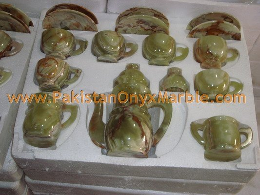 Manufacture and Exporter Onyx tea set wholesale direct factory price