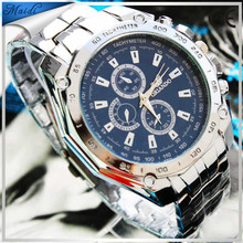 brand High Quality CURREN Men's Analog Calendar Mens Man Watch with Silver Case Stainless Steel ,Hot sale brand waterproof