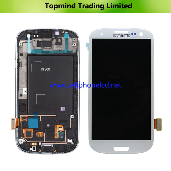 Including LCD, Touch And Frame Complete Original New Lcd For Samsung Galaxy S3 i9300 lcd Display With Touch Screen Assembly