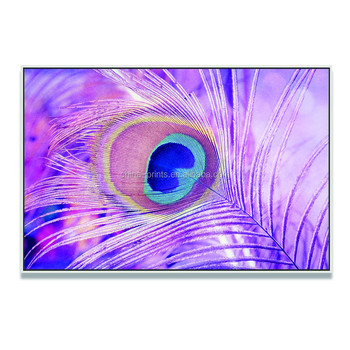 Purple Feather Oil Painting Modern Abstract Canvas Wall Art Sinple Design Wall Decoration Giclee Canvas Prints