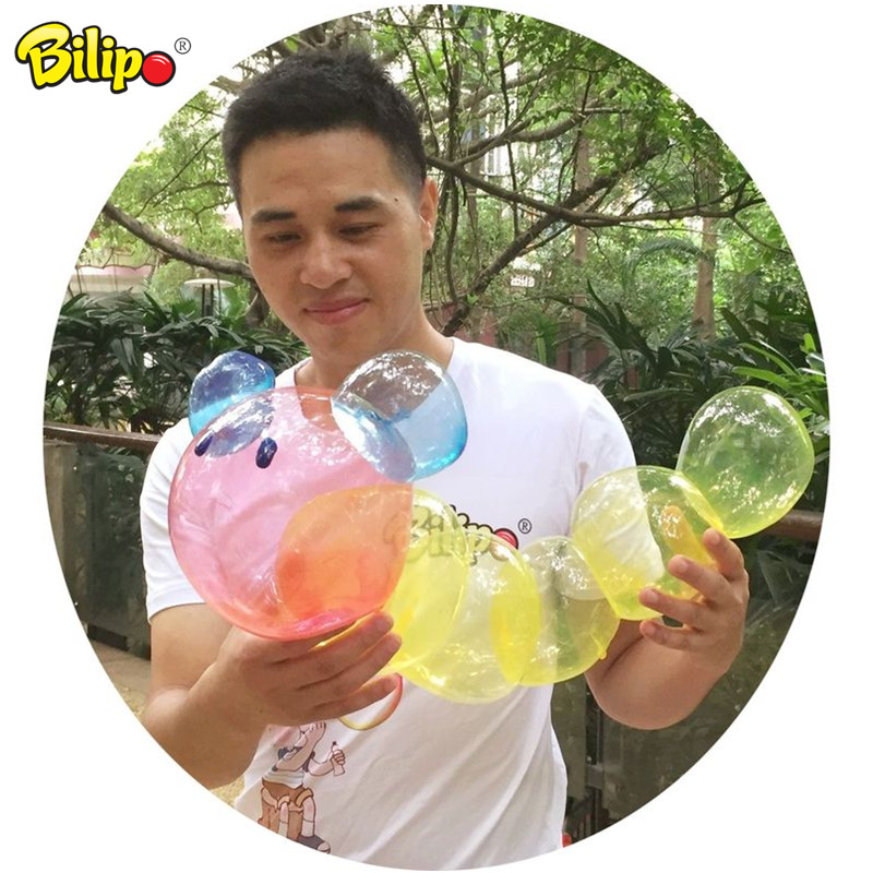 Hot sale 2018 toys plastic bubble glue toy for blowing balloons