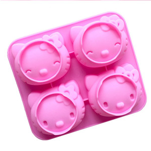 003 KT cat 4 cavity silicone cake mould jelly pudding silicone molds soap,DIY chocolate mould silicone molds soap