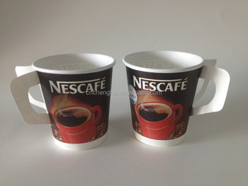 disposable paper cup with handle ,print paper coffee cup,coffee paper cup holder