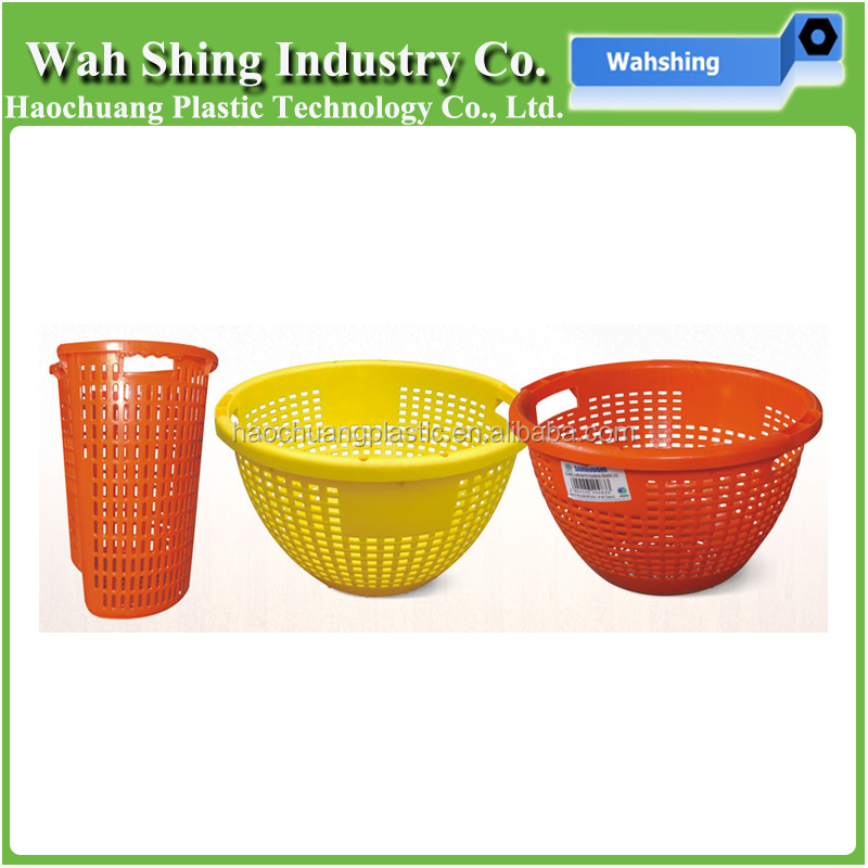 high quality plastic injection molded colorful fruit and vegetable baskets