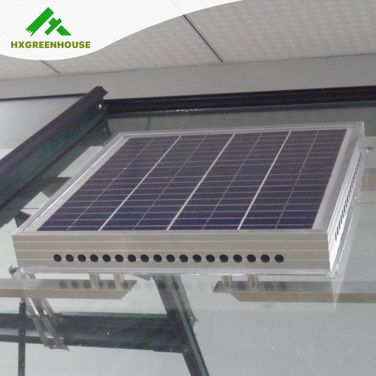 Eco-friendly greenhouse ventilation solar attic fan