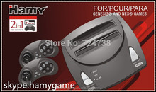 Hamy FC Twin SEGA+Nes 2in1 system TV / Video Game with two gamepad