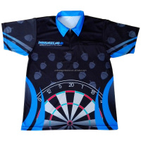 Custom Dart Jerseys Shirts For USA Dart Clubs And Teams sublimated darts wear shirts