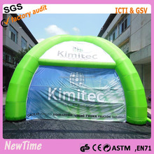 green with white inflatable dome tent used for cover