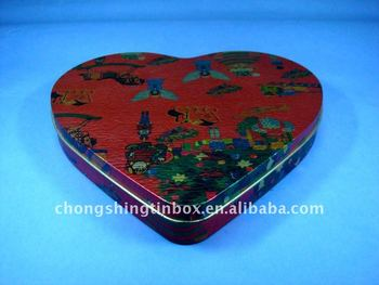 elegant Heart shaped Gift&Jewerly Tin Box