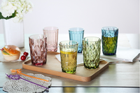 Relier design colored glass water cup