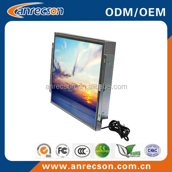 "24"" open frame monitor VGA/DVI signal input, lcd monitor composite input"