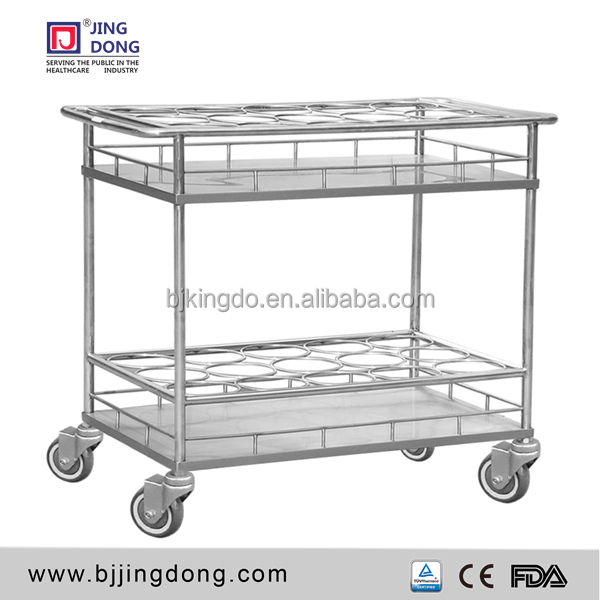 High Quality Hospital 304 SS Water Stainless Steel Medical Trolley/ Cart