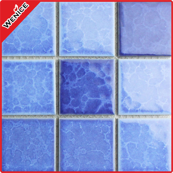 hot seller blue foshan big chip ceramic mosaic tiles bathroom wall and floor with best price