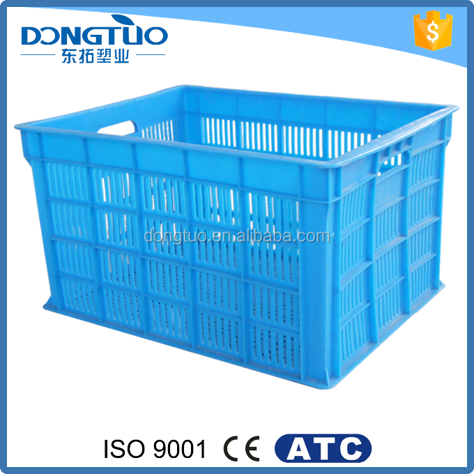 New design blue plastic carry basket, plastic vegetable storage basket