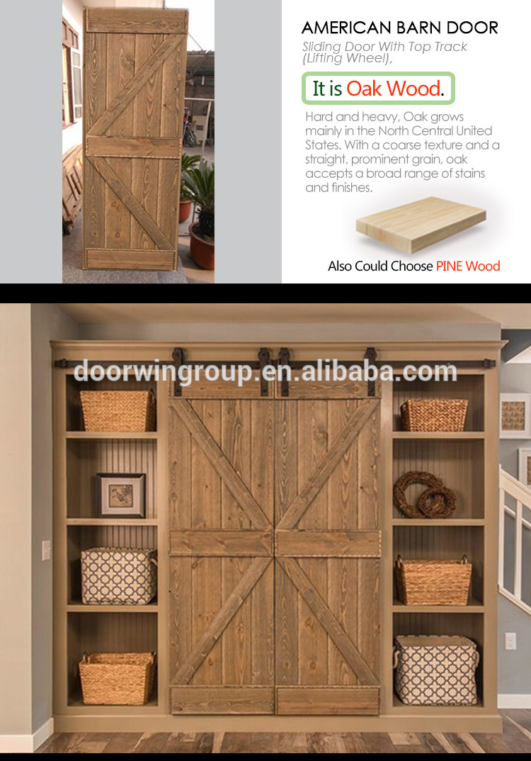 From the farm sliding barn door with barn door hardware and oak wood