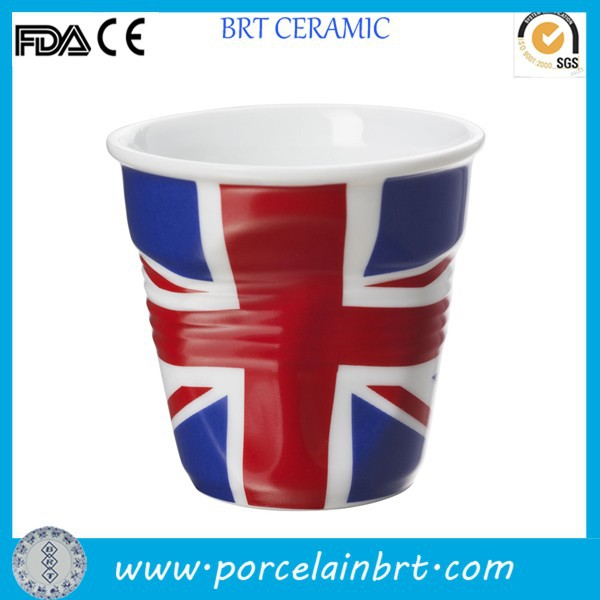 Promotional Gifts Espresso Tumbler Ceramic Crinkle Cup