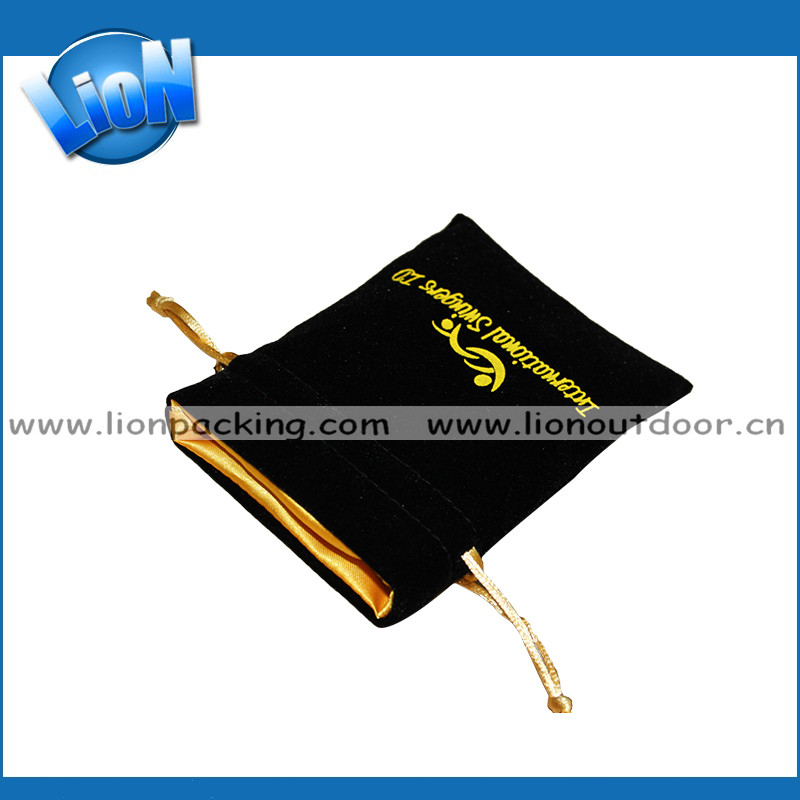 High quality jewelry pouch,satin lined velvet bags wholesale