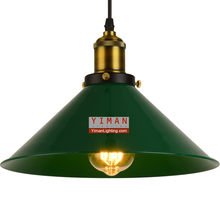 industrial contracted lid type pendant light green E27 pendant lamp interior simple decoration pendant lighting from china
