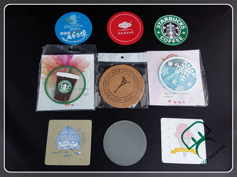 Plastic coffee cup coaster paper Cup coaster