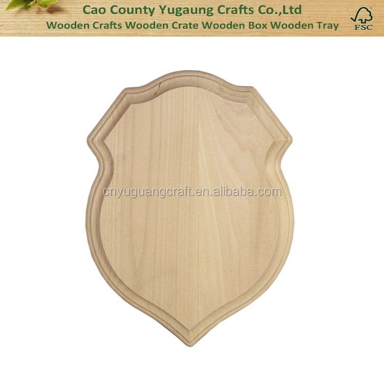 Unfinished Basswood Shield Plaque Wooden Shield Plaque