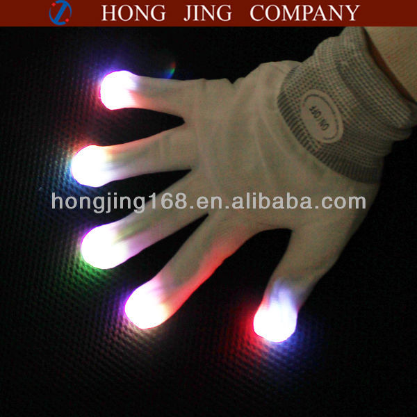 led luminous gloves for events