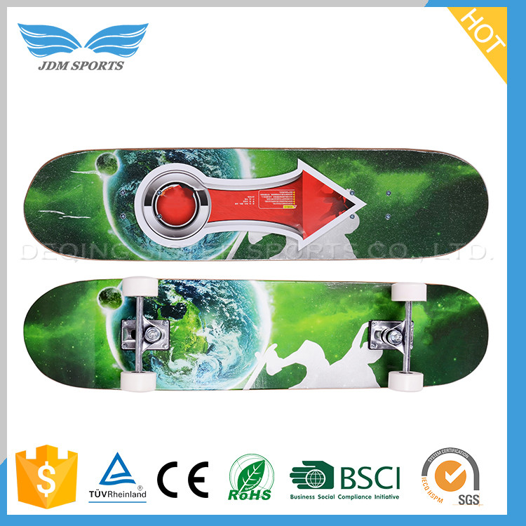 New Fashion Double Cover Canadian Wood Maple Skateboard Company With Exchangeable Pu Wheels