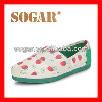 new pattern canvas ladies shoes brand name fashion
