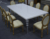 new royal event dining table and louis xvi chairs XYN2266