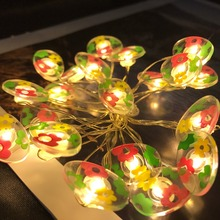 Holiday Party Ornaments Remote Controlled Battery Operated Led String Christmas Light With Easter Egg Accessaries