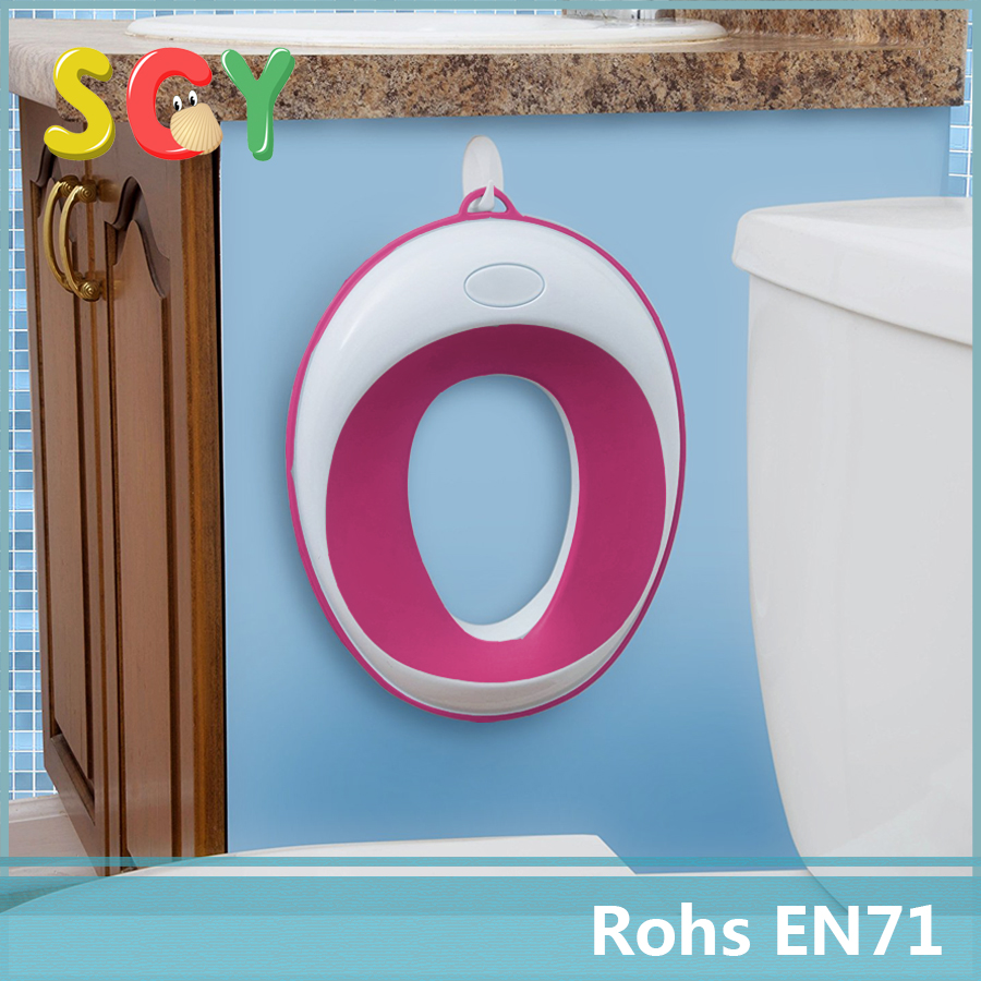 Pink-Potty Seat for Boys or Girls Toilet Training | Toddler Secure Non-Slip Surface and Ring | FREE Storage Suction Cup and Hook