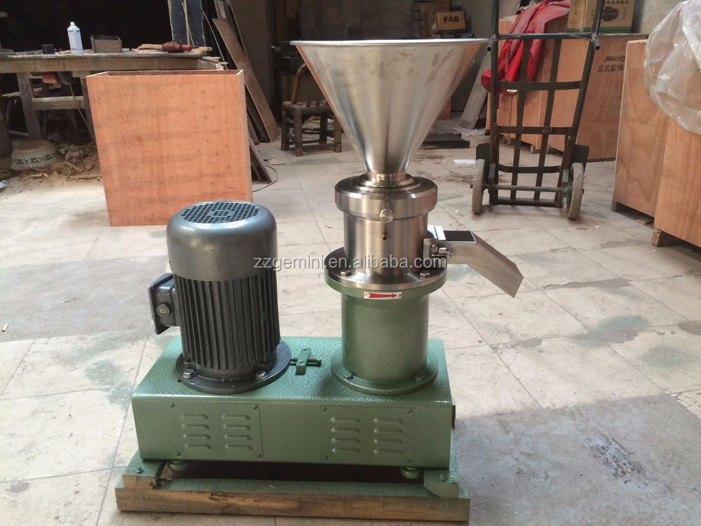 cacao nibs horizontal colloid mill automatic peanut butter maker machine