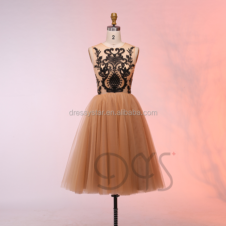 Venta al por mayor vestidos fiesta cortos hinchados-Compre online ...