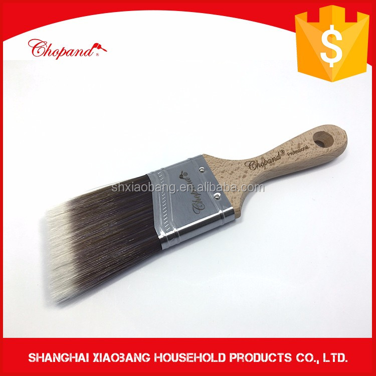 Short Handle Beige Bristle wooden Handle Paint Brush