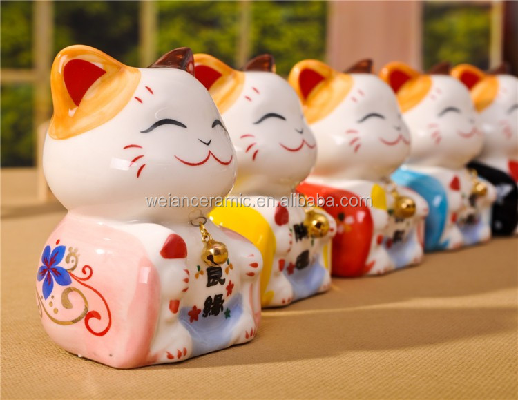 new children decor 2011 handmade wholesale porcelain dolls asian toys waving lucky cat cheap gifts from ningbo