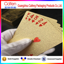 Luxury gold foil printing plastic playing card