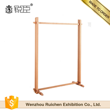 Manufacturers retail store wood MDF clothing hanging display rack