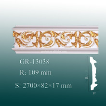 Newest Exterior and Interior Decorative PU Cornice Moulding for Roof And Wall