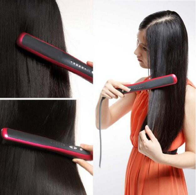 2016 Hair Straightener Comb LCD Display Electric Straightening Irons Straight Hair Brush Straightener