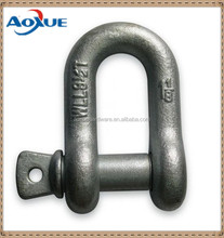 Selling u shape shackle galvanized clevis d shackle