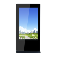 "65"" Stand Double Side Advertising Digital LCD Signage Player"