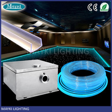 Pool and spa decoartin fiber optic perimeter light with 8.0mm side glow cable and 6 color wheel illuminator