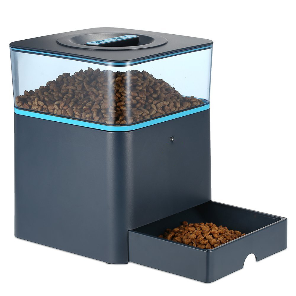 Smart bluetooth dog cat food dispenser automatic pet feeder