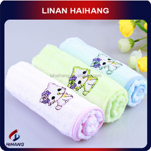 China OEM manufacture bamboo embroider bamboo fabric towel