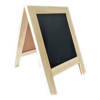 Tabletop a-frame mini kayu papan tulis sign