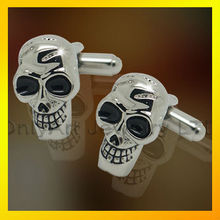 wholesale popular novelty skull men's mental cufflinks jewelry