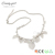 candygirl brand latest design leaves collocation pearl metal fashion womens necklace