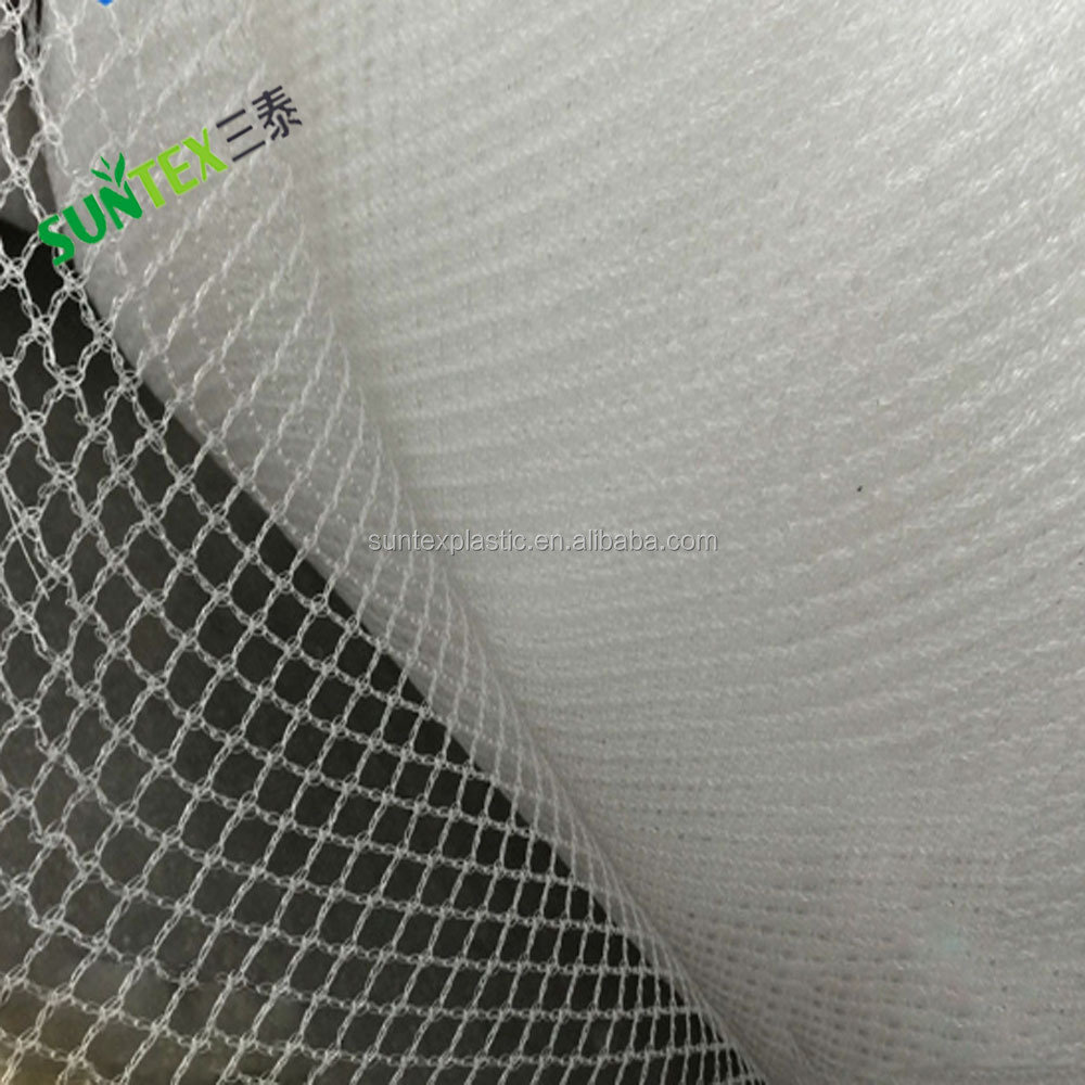 white PE plastic leno anti-hail net, agricultural hail protection screen mesh for apple tree covering
