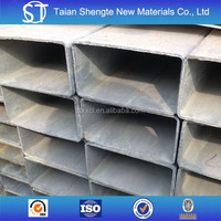 Q235 Material galvanized rectangular tube High quality galvanized Square Pipe rectangular tube with best price